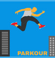 parkour figure flat elements vector image