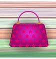 Pink Modern Womens Handbag vector image