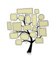 post stamp tree for your design vector image vector image