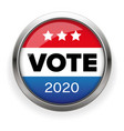 presidential election vote badge vector image vector image