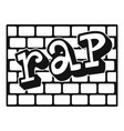 rap bricks wall icon simple style vector image