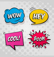 retro comic bubble speech set vector image vector image