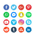 scribble social media icon template design vector image vector image