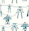 Seamless pattern for electricity - power lines vector image