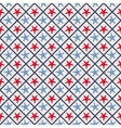 seamless pattern with cross lines and starfish vector image