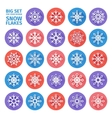set icons snowflakes flat design with long vector image vector image