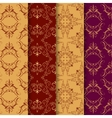 Set of vintage seamless with arabic pattern vector image