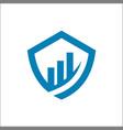 shield finance logo template vector image vector image