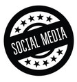 social media rubber stamp vector image vector image