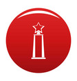 star award icon red vector image