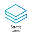 stratis cryptocurrency symbol vector image vector image
