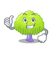 thumbs up drawing of willow tree shape cartoon vector image