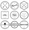 Vintage Hipster Badge vector image