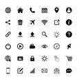 website icon set web icon set symbol vector image vector image