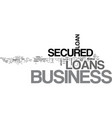 why should we take secured business loans text vector image vector image