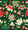 winter clothes seamless holiday pattern vector image vector image