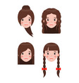 woman and hairstyles set vector image vector image