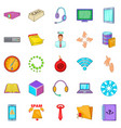 workshop icons set cartoon style vector image vector image