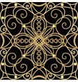filigree golden ornament tile in art deco style vector image