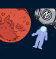 astronaut in outer space vector image