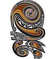 Borneo tattoo pattern vector image