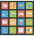 Home Furniture and Appliances flat icons set vector image