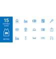 15 retro icons vector image vector image