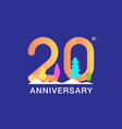 20 years anniversary celebration logotype vector image vector image