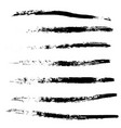 a selection of brushes black grunge brush vector image