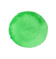 abstract watercolor green round background vector image