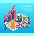 accounting isometric composition