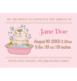 Baby Arrival or Shower Card vector image