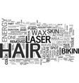 basic laser hair removal terminology text word vector image vector image