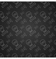 Black pattern with skulls vector image vector image