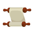 blank ancient paper scroll or parchment vintage vector image vector image