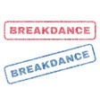 Breakdance textile stamps