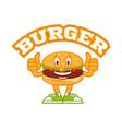 burger logo vector image