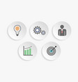 business icons for infographic vector image vector image