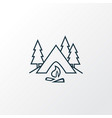 camping icon line symbol premium quality isolated vector image vector image