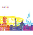 cardiff skyline pop vector image vector image
