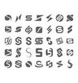 concept of s symbol logo vector image vector image