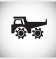 construction heavy truck on white background vector image