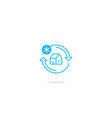 Cooling system icon temperature control logo vector image vector image