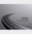 curved perspective road pathway background vector image vector image