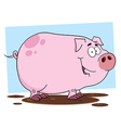 Cute Pig Cartoon Character vector image