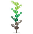 development and growth eco technology time vector image vector image