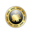 donate piggy bank icon vector image
