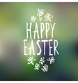 easter greeting with bokeh background vector image vector image