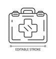 emergency help linear icon vector image