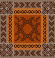 ethnic ornament carpet design vector image vector image